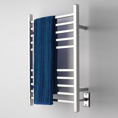 This towel warmer heats up quickly using minimal power consumption, saving you energy and keeping your bathroom towels warm at the same time
