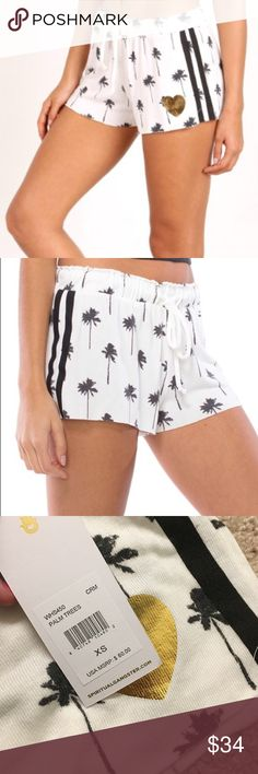 Spiritual Gangster White Palm Tree Shorts 🎄SALE🎁Very cute and flowy! Super comfortable! Perfect gift 🎁 or night-time Shorts for all! See description above for more product details. Spiritual Gangster Shorts
