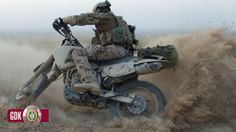 German KSK (German Army SF) trooper on KTM motorbike
