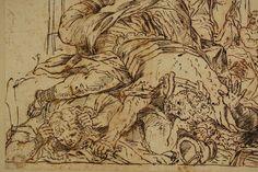 Altmeisterzeichnung Kampf Gladiatoren Justitia Tinte auf Bütten 1650 Italien in Antiquitäten & Kunst, Grafik, Handzeichnungen, Originalzeichnungen vor 1900   eBay