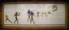 """""""Artemis, Acrobats, Divas and Dancers"""" by Nancy Spero. NYC Subway, IRT 66th Street Station at Lincoln Center"""