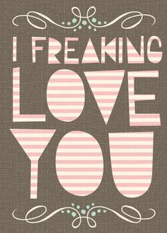 Freaking Love Card by Hillary Bird on Little Paper Planes