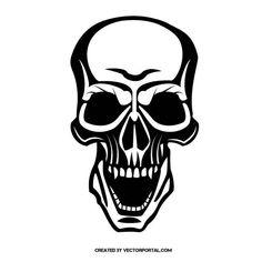 skull stock vector skull vectors pinterest vector graphics rh pinterest com skull vector file skull vectors free download