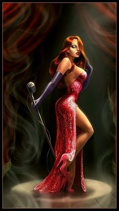 """Jessica Rabbit, from Who Framed Roger Rabbit. """" You don't know how hard it is being a woman looking the way I do . I'm not bad. I'm just drawn that way."""" always loved her, possible pinup Roger Rabbit, Dibujos Pin Up, Female Cartoon Characters, Fantasy Characters, Rabbit Photos, Luis Royo, Rabbit Art, Rabbit Drawing, Sexy Cartoons"""