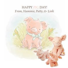 Bunnies By The Bay: Happy Pig Day! #nationalpigday #stuffedpigs #stuffedanimals #easter #babygifts #babytoys #bunniesbythebay