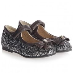 Monnalisa New Looks For Girls Glitter and Print Leather Shoes