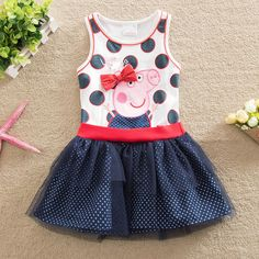 baby girl dress summer 2016 children clothing printed fashion cartoon pig princess dress girls dress cotton clothes girl vestido #>=#>=#>=#>=#> Click on the pin to check out discount price, color, size, shipping, etc. Save and like it!