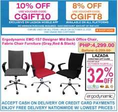 Office Furniture Lazada S Super September Promo Save 8 Up To 12 On Erynamic Mbc 133 Chair Use Voucher Code Super8 A