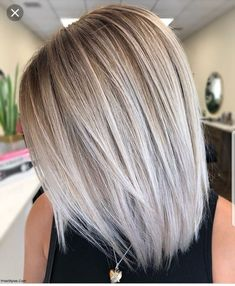 Stylish Ombre Balayage Hairstyles for Long Hair Medium Hair . Stylische Ombre-Balayage-Frisuren für schulterlanges Haar Mittlerer Haars… Stylish ombre balayage hairstyles for shoulder-length hair medium haircut # Medium Hair Cuts, Medium Hair Styles, Curly Hair Styles, Medium Length Hair Straight, Bright Blonde Hair, Silver Blonde Ombre, Ash Blonde Hair With Highlights, Ash Blonde Bob, Perfect Blonde Hair