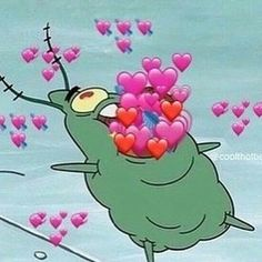 Meme, memes, and mood: coolthottie corazones parrrrte 2 # Spongebob Memes, Cartoon Memes, Cartoons, Cant Help Falling In Love, My Love, Sapo Meme, Memes Lindos, Heart Meme, Cute Love Memes