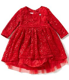 dd1f5cb953724 Bonnie Baby Girls Newborn-24 Months Embellished Lace Dress | Dillards