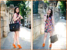#Amalia #Bag #Black&Orange Fashion Bloggers, Orange, Bags, Purses, Totes, Lv Bags, Hand Bags, Bag, Handbags
