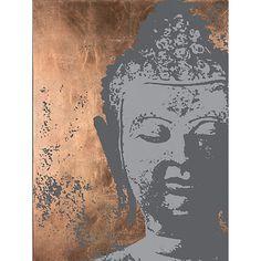 Buy Ulyana Hammond - Buddha Canvas Print, Grey and Copper, 60 x 100cm Online at johnlewis.com