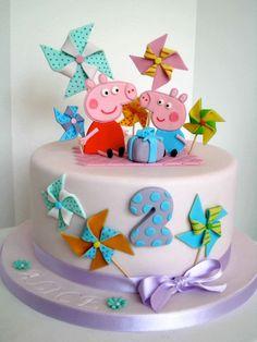 Peppa Pig cake i wish lol Tortas Peppa Pig, Bolo Da Peppa Pig, Peppa Pig Birthday Cake, Girl 2nd Birthday, Peppa Big, Pig Party, Cake & Co, Girl Cakes, Cute Cakes