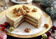Juditka konyhája: ~ GLUTÉNMENTES KARAMELLKRÉMES DIÓTORTA ~ Vanilla Cake, Paleo, Cheesecake, Food And Drink, Favorite Recipes, Desserts, Cukor, Free, Dios