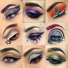 Top 9 looks of 2016. Here's to many more in 2017!! Bettering my art one makeup look at a time.  xoxo💋 💄🎉💄🎉💄🎉💄🎉💄 #makeup #2016 #2017 #nye #happynewyear #makeupartist #makeupbyme #beauty #followforfollow #likeforlike #newyearseve #newyear #makeupaddict #makeuplover #makeupinspiration #makeuptutorial #makeupgeek #makeupart #makeupjunkie #cosmetology
