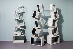 The Malagana Design bookcases, Equilibrium and Equity have you thinking outside the box in a literal sense.