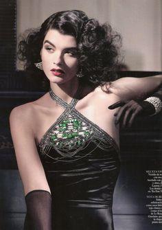 Crystal Renn for Vogue Spain July 2011