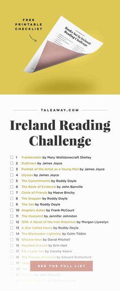 Ireland Reading Challenge Books Set In Ireland Book Challenge, Reading Challenge, Reading Lists, Book Lists, I Love Books, Books To Read, Lectures, Book Nooks, Non Fiction