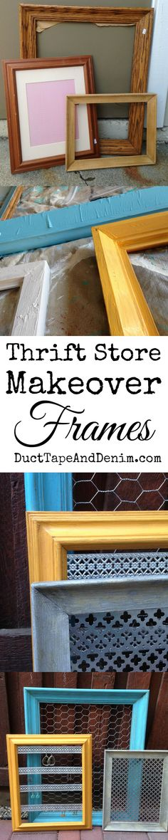 Thrift store makeover! From frames to jewelry display for my flea market booth. | DuctTapeAndDenim.com