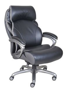Serta And Tall Smart Layers Tranquility Executive Office Chair With Air Technology Black Pinner