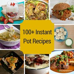 The #InstantPot is all the rage right now! If you're not familiar with this device, it is a seven-in-one appliance that can replace your: Pressure Cooker Slow Cooker Rice Cooker/Porridge Maker Saute/Browning Pan Steamer Yogurt Maker Stockpot Warmer One appliance to rule them all…or at least replace a bunch of other kitchen appliances. Get 100+ recipes here! // 20Dishes.com