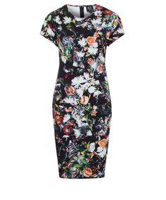Just love this. McQ Alexander McQueen Black Festival Floral Jersey Dress | Womenswear | Liberty.co.uk