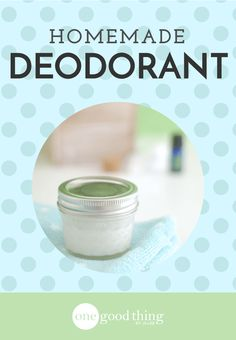 """Eliminate """"Pit Stains"""" with Natural Deodorant"""
