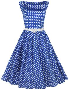 New vintage fifties audrey style polka dot swing dress rockabilly pinup 1d7e8c5cde