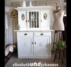 Vintage Buffets - Vintage Landhaus shabby chic Küchenbuffet Schrank - ein Designerstück von elisabethUNDjohannes bei DaWanda