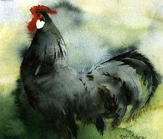 kate osborne Artist Artwork Gallery, Watercolour, animals, chickens, still life Watercolor Artists, Watercolor Drawing, Watercolor Bird, Watercolor Animals, Watercolor Techniques, Painting & Drawing, Watercolor Paintings, Watercolours, Chicken Painting
