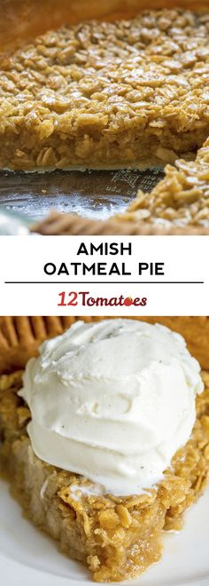 If you love or even remotely like pecan pie, then you definitely need to try this classic Amish oatmeal pie. While you might read that and wonder why the heck we're putting oatmeal into a pie – hang in there with us! Just Desserts, Delicious Desserts, Dessert Recipes, Yummy Food, Party Desserts, Dinner Recipes, Yummy Treats, Sweet Treats, Empanada