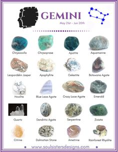 Crystals and the Zodiac   Soul Sisters Designs   Healing Crystal Jewelry and Home Decor