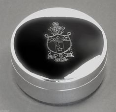 Delta Gamma, ΔΓ, Engraved Crest Small Jewelry Box/Pin Box By McCartney NEW #McCartney