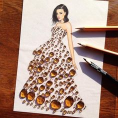 Creative Art / Funny Art ideas : Edgar Artis is an Armenian illustrator who uses a fascinating mix of paper cut outs and pencil drawings using everyday objects. This artist has a wonderful and Zebra Kunst, Zebra Art, Gown Drawing, Kleidung Design, Arte Fashion, Dress Fashion, Funny Drawings, Art Drawings, Fashion Design Drawings