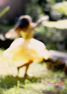 Even a blurry and out of focus picture can look good. I like this because you can see what the little girl is doing even if its not focused, it has a nice affect.