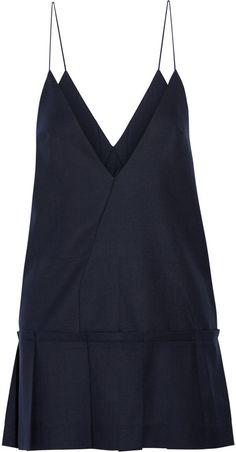Jacquemus La Robe Tennis Pleated Wool Mini Dress