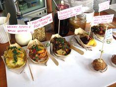 Matakana Farmers Market / biodegradable packagin / gourmet market stall /