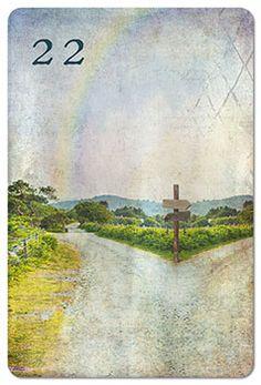 Mondnacht Lenormand Karte 22: Wege