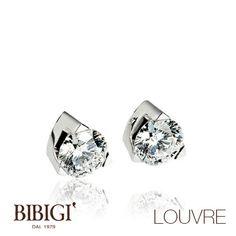 #Bibigì | Collezione Louvre | Gioielli in oro bianco e diamanti. Creazioni di sofisticata eleganza, una scelta di stile con diamanti naturali, colore G, purezza IF, disponibili in diverse carature.