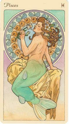 Pisces! Omg why did I not know about this before I got my tattoo this is fantastic! Alphonse Mucha