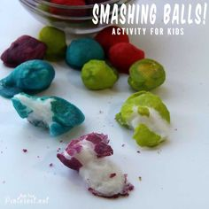 Smashing Balls Activity For Kids - This is a great activity to keep your kids busy for hours! Would be good for emotional regulation.go smash then come back to work Craft Activities For Kids, Summer Activities, Projects For Kids, Preschool Activities, Games For Kids, Preschool Projects, Fun Crafts, Crafts For Kids, Child Life