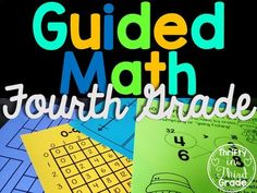 This is a BUNDLE of my 4th Grade Guided Math Units. There are a total of 15 units. Lesson plans are standards based and have a specific, achievable objective for each day. Units include pre and post assessments, daily practice pages, daily extension activities, vocabulary cards, questioning cards, posters, and additional resources to support your