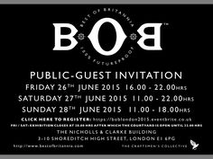 This weekend! I'll be on stand 88 https://boblondon2015.eventbrite.co.uk
