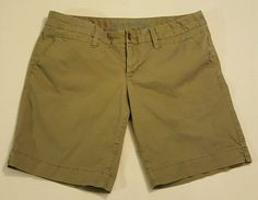 American Eagle Women's Gray Chino Bermuda Walking Shorts Size 14 #80 in Clothing, Shoes & Accessories, Women's Clothing, Shorts   eBay