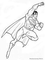 Mewarnai Gambar Sketsa Superman Coloring Pages Pinterest
