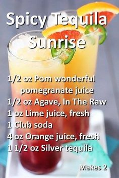 Spiced tequila sunrise