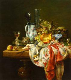Stilleven met glazen doosje, oil on panel by Dutch painter, Cornelius le Mair, 2007
