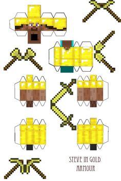 papercraft minecraft steve com armadura - Pesquisa Google