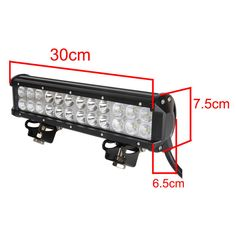 "12"" 72W LED Work Light bars Off Road ATV UTE Truck Boats Flood Spot Combo Beam 